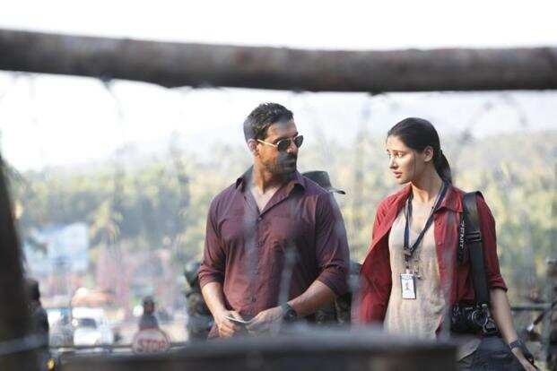 John Abraham and Nargis Fakhri in a still from the movie